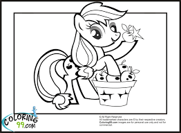 Applejack Coloring Pages Apple Jack With Her Favourite Apples Colouring For The Girls Of Animals
