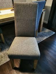5 x polsterstühle esszimmerstühle stühle grau massiv