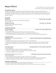 Professional Resume Objective Examples Marketing Examp Customer Service