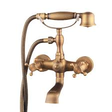 Dripping Bathtub Faucet Double Handle by Hiendure Bathroom Wall Mounted Mixer Tub Filler Shower Faucet Sets