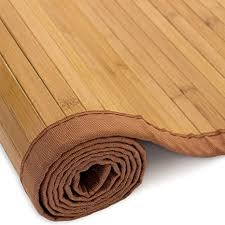 homestyle4u 254 bambusmatte bad duschvorleger läufer bambusteppich 80 x 200 cm braun
