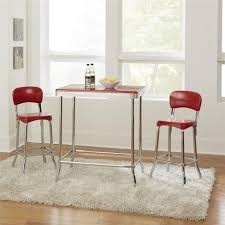 100 Retro High Chairs Shop COSCO Red Chrome 2pc Top Free Shipping