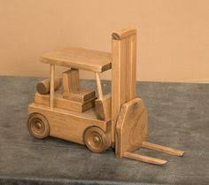 fork lift wood toy truck amish handmade wooden toys for play