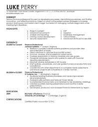 Resume For Finance Student