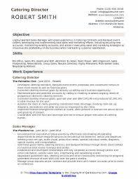 Catering Director Resume Model