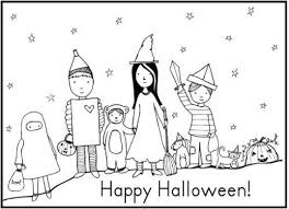 Happy Halloween Costumes Coloring Pages Free