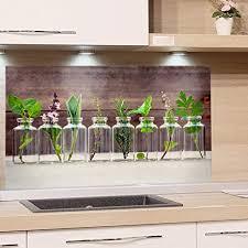 küchenrückwand glas küchenspruch 60x40cm wandpaneele küche