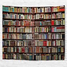 izielad bibliothek tapisserie wandbehang bücherregal mit bücher wand kunst dekoration wandteppiche für schlafzimmer wohnzimmer college wohnheim dekor