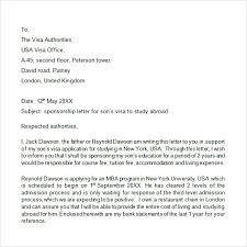 Visa Sponsorship Letter Letter Reference For A Visa Reference