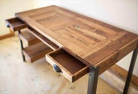 Pallet Desk with Drawers and shelves