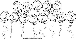 Birthday clipart black and white 4