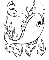 Easy Coloring Pages Free Printable Ocean Fish Featuring Pre K And Primary