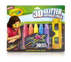 Amazon.com: Crayola 3D Glitter Chalk Pack: Toys & Games