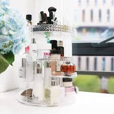 badezimmer lila awenia 360 drehbar make up aufbewahrung