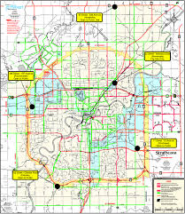 100 Truck Route Map Of Edmontons Truck Route Network And Snow Deposits City Of