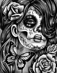 ORIGINAL DRAWING Epiphany 9x12 In Pencil Drawing By Carissa Rose Day Of The Dead Butterflies Sugar