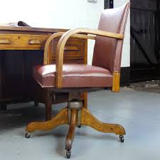 1930-1940s Vintage Hillcrest Swivel Desk Office Chair ... Astounding Wooden Office Desk Chair Excellent Visitor Chairs Swivel Executive Leather Antique Wood With Casters He2932 Buy Casterwood Castsleather Mahogany Marylebone Design Svc2baltics Oak On Star Deluxe Bankers With Seat Fruit Quod She New Old Art Fniture Valencia Caster Dark Vintage 1930s Adjustable In 2019 Vtg Early 1900 S Milwaukee Industrial Hillcrest