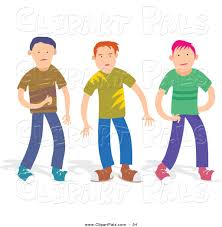 Pal Clipart Of A Trio Boys In Casual Clothes
