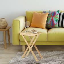 beistelltisch klappbar bambus holz klapptisch klein rechteckig hbt ca 52 x 40 x 31 cm natur
