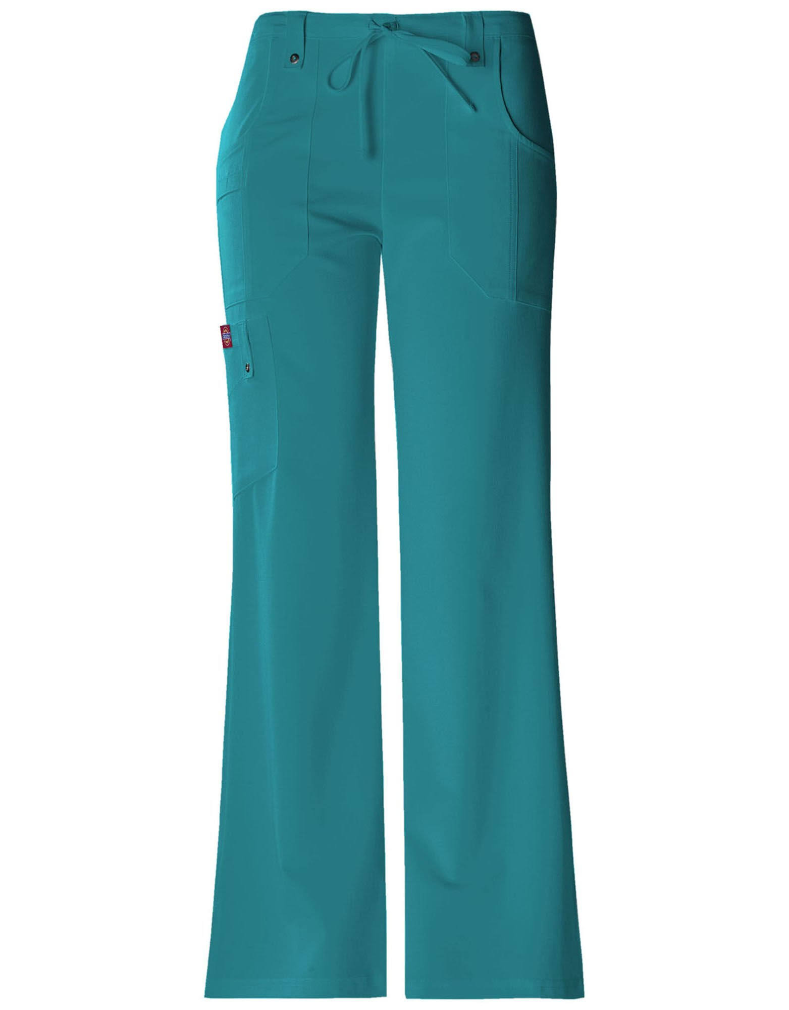 Dickies Women's Xtreme Stretch Fit Drawstring Flare Leg Pant - Teal, 2XSmall Petite