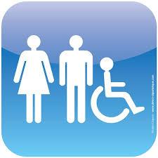 plaque de porte icone toilettes handicapés hommes femmes
