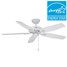 Ceiling Fan Wobbles Without Blades by Hunter Builder Elite 52 In Indoor White Ceiling Fan 53240 The
