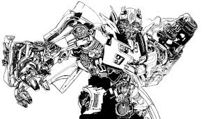 Bumblebee Car Transform To Robot Colouring Page Coloring
