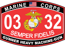 heavy machine gun marine corps mos 0332 desert usmc military decal