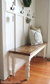 Diy Dining Table Bench Stylish Farmhouse Tutorial Home Decor Pinterest