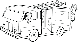 Medquit » Fire Trucks Coloring Pages Firefighter Page Image Free ...