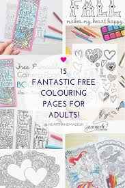 15 Great Free Of Charge Colouring Pages For Adults