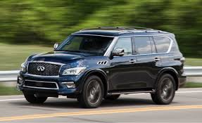 2016 Infiniti QX80 4WD Test | Review | Car And Driver Infiniti Qx80 Reviews Research New Used Models Motor Trend To Infinity And Beyond The Pizza Planet Truck In Real Life Monograph Concept Will It Go Production 2017 2018 Suv Is A Deluxe Dubai Debut Roadshow Trucks Diesel Tohatruck Gearing Up For Families Arundel Journal Tribune Finiti Of Charlotte Luxury Cars Suvs Dealership Servicing 2016 Larte Design Missuro 2019 Qx50 Preview Crossovers Usa