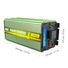 100 Truck Power Inverter EDECOA 3000 Watt 6000w 12v DC To 120v AC LCD Cables
