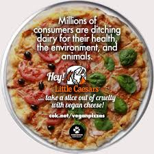 Nationwide Pizza Party Asks Little Caesars To Offer Vegan Cheese