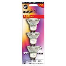 shop ge 3 pack 50 watt indoor halogen flood light bulb energy