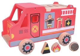 100 Fire Truck Kids Toy Shape Sorter Red Wrappings