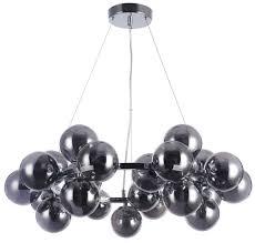 casa padrino wohnzimmer hängeleuchte silber schwarz ø 69 x h 23 8 cm hängele mit kugelförmigen lenschirmen