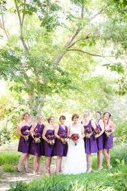 Purple And Orange Rustic Garden Wedding Via TheELD