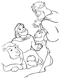 The Story Daniel And Lions Den Coloring Pages Sketch Page