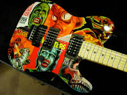 This Is A Beautiful Example Of How Detailed And Guitar Paint Job Can Be Was Painted