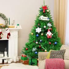 Costway 6Ft PVC Artificial Christmas Tree Encryption Premium
