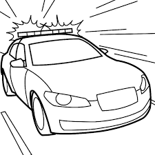 Printable Free Transportation Police Car Coloring Pages For Kids
