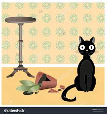 Naughty black cat clipart Clipground
