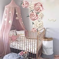 jxfy 102x72 cm wandaufkleber blume pfingstrose wandtattoo baby kinderzimmer wanddekor kinderzimmer dekoration nordic diy wandkunst mädchen