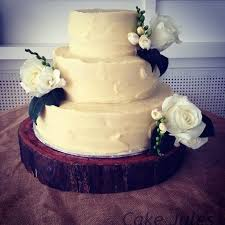 Rustic Wedding Cake Red Velvet With White Chocolate Ganache