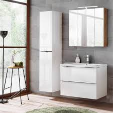 badezimmermöbel set mit 80cm keramik waschtisch toskana 56 hochglanz w