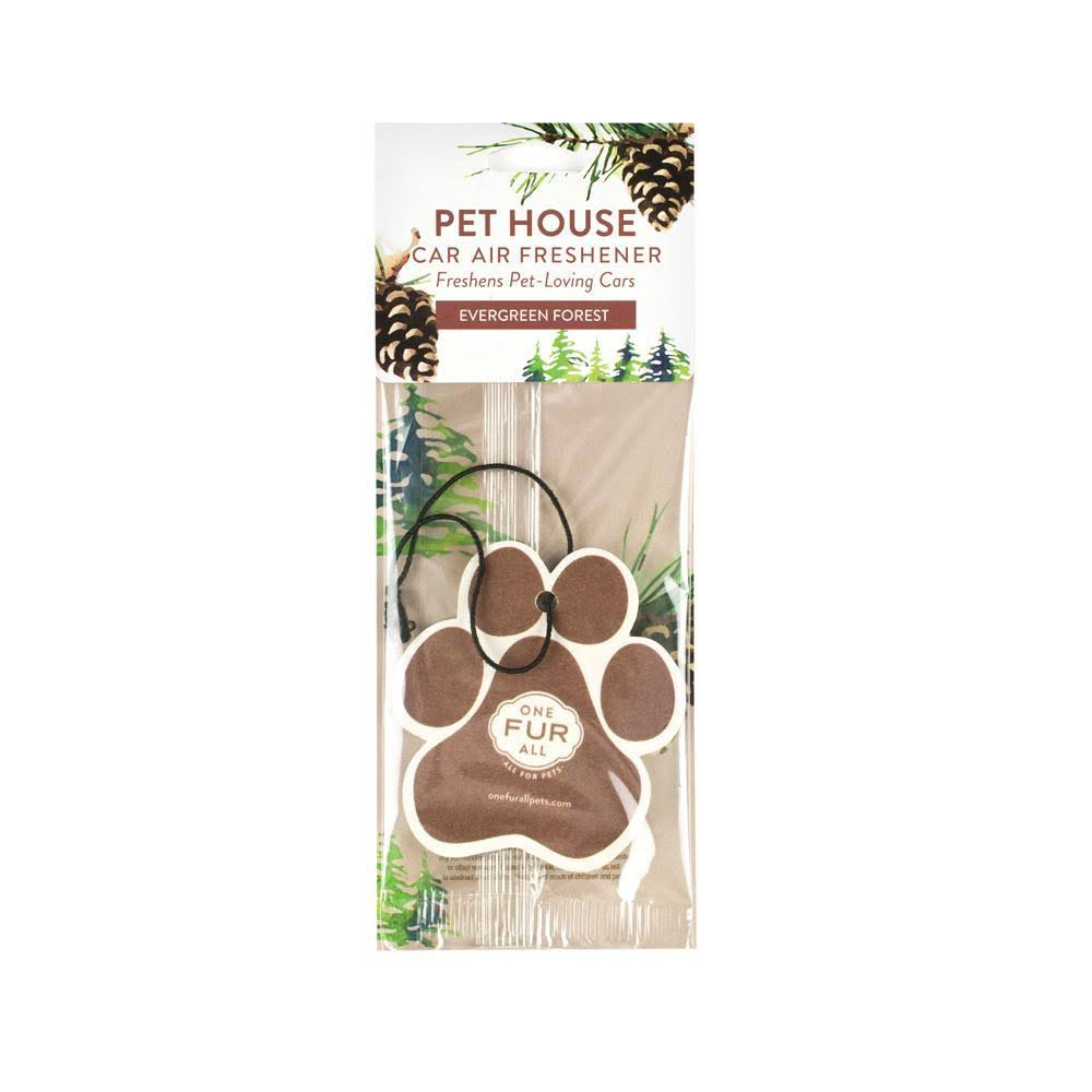 One Fur All Pet House Powerful Odor Neutralizer Car Freshener - Evergreen Forest