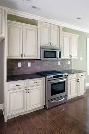 White Distressed Kitchen Cabinets Adorable