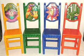 Mexican Painted Furniture Vintage