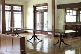 Modern Dining Room Sets For 10 by 10 To18 Foot Large Triple Pedestal Mahogany Dining Table